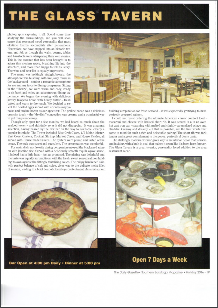 Southern Saratoga Magazine Review Page 2