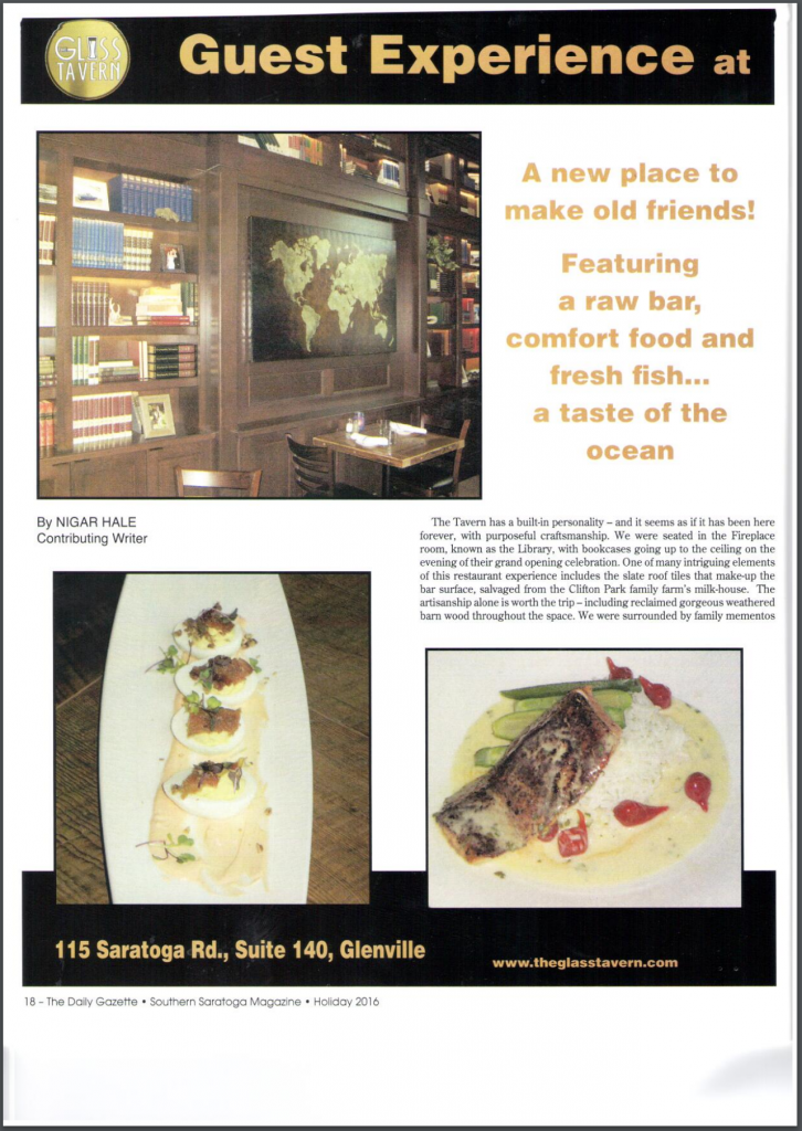 Southern Saratoga Magazine Review Page 1